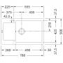 Кухонная мойка FRANKE MARIS MRG 611-78 XL (114.0374.916) миндаль