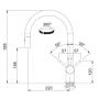 Кухонный смеситель FRANKE Active Neo Doc (115.0373.961) хром