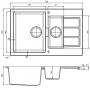 Кухонная мойка FRANKE SID 651-78 (114.0497.984) черный
