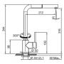 Кухонный смеситель FRANKE SIRIUS (115.0476.821) хром/сахара