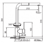 Кухонный смеситель FRANKE SIRIUS (115.0476.822) хром/бежевый