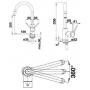 Кухонный смеситель BLANCO MIDA-S (521454) хром