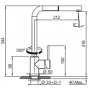 Кухонный смеситель FRANKE SIRIUS (115.0476.830) хром/ваниль